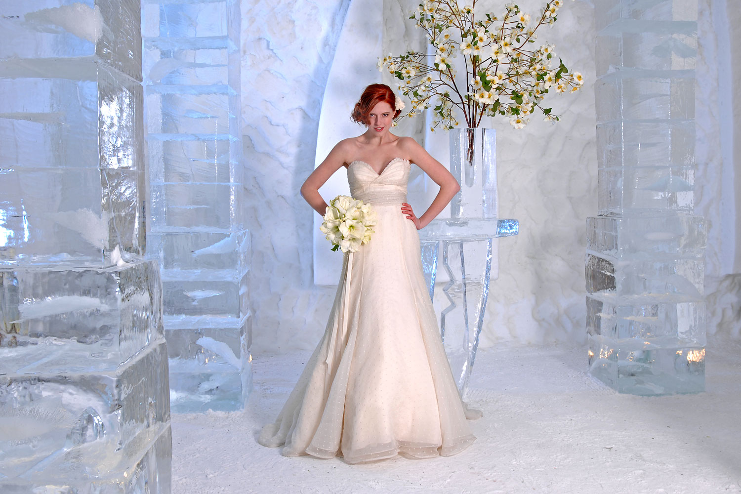 Ice Hotel Wedding Fashion Shoot At The Ice Hotel Vermont