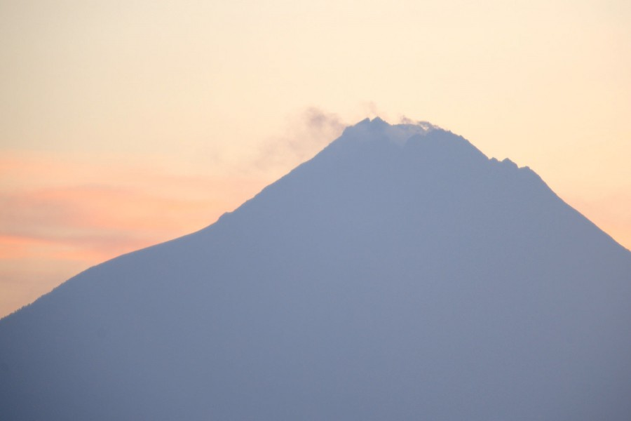 One of many Indonesian volcanoes lets off some steam.