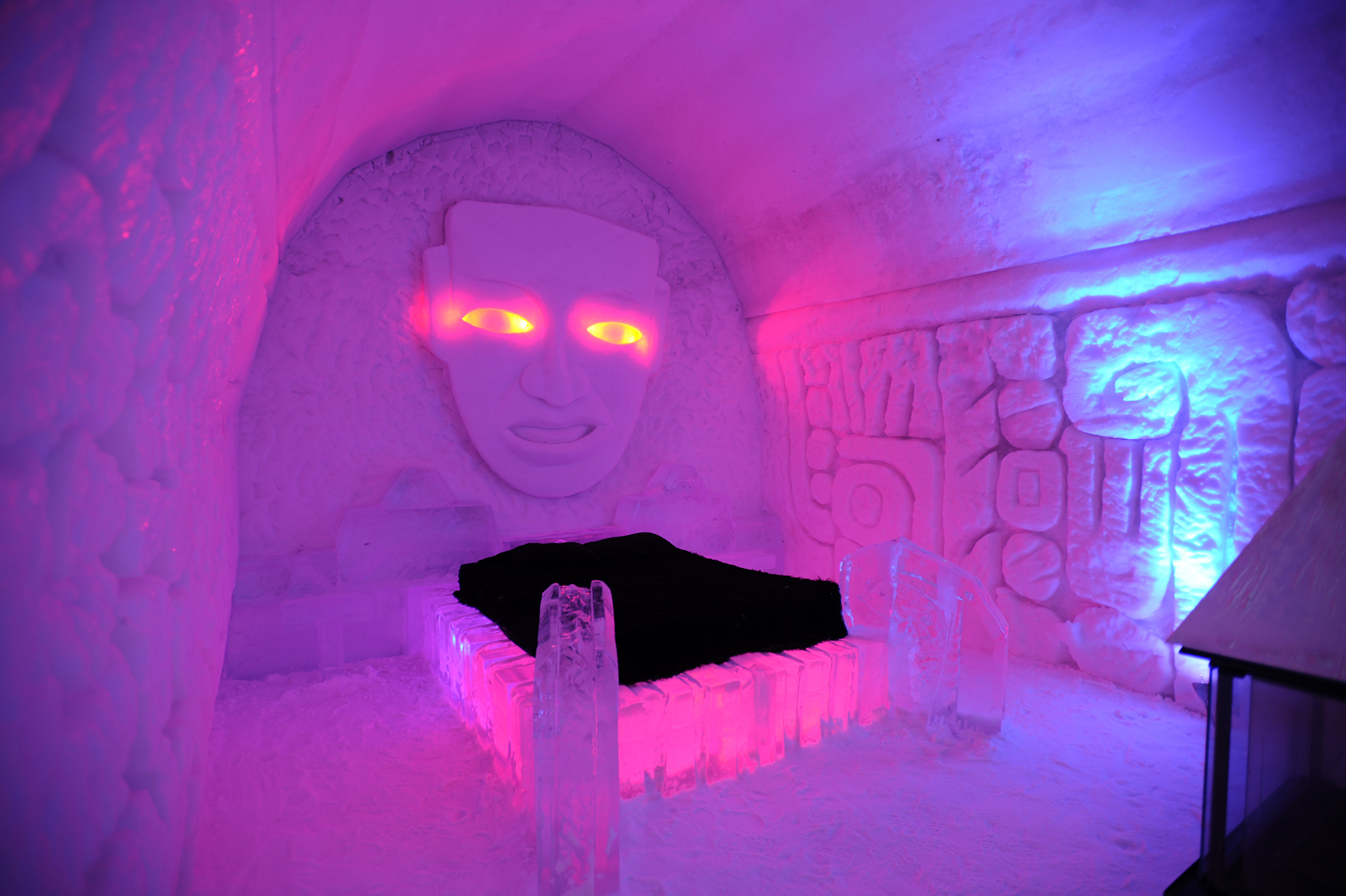 Mayan inspired room, Ice Hotel, Quebec City