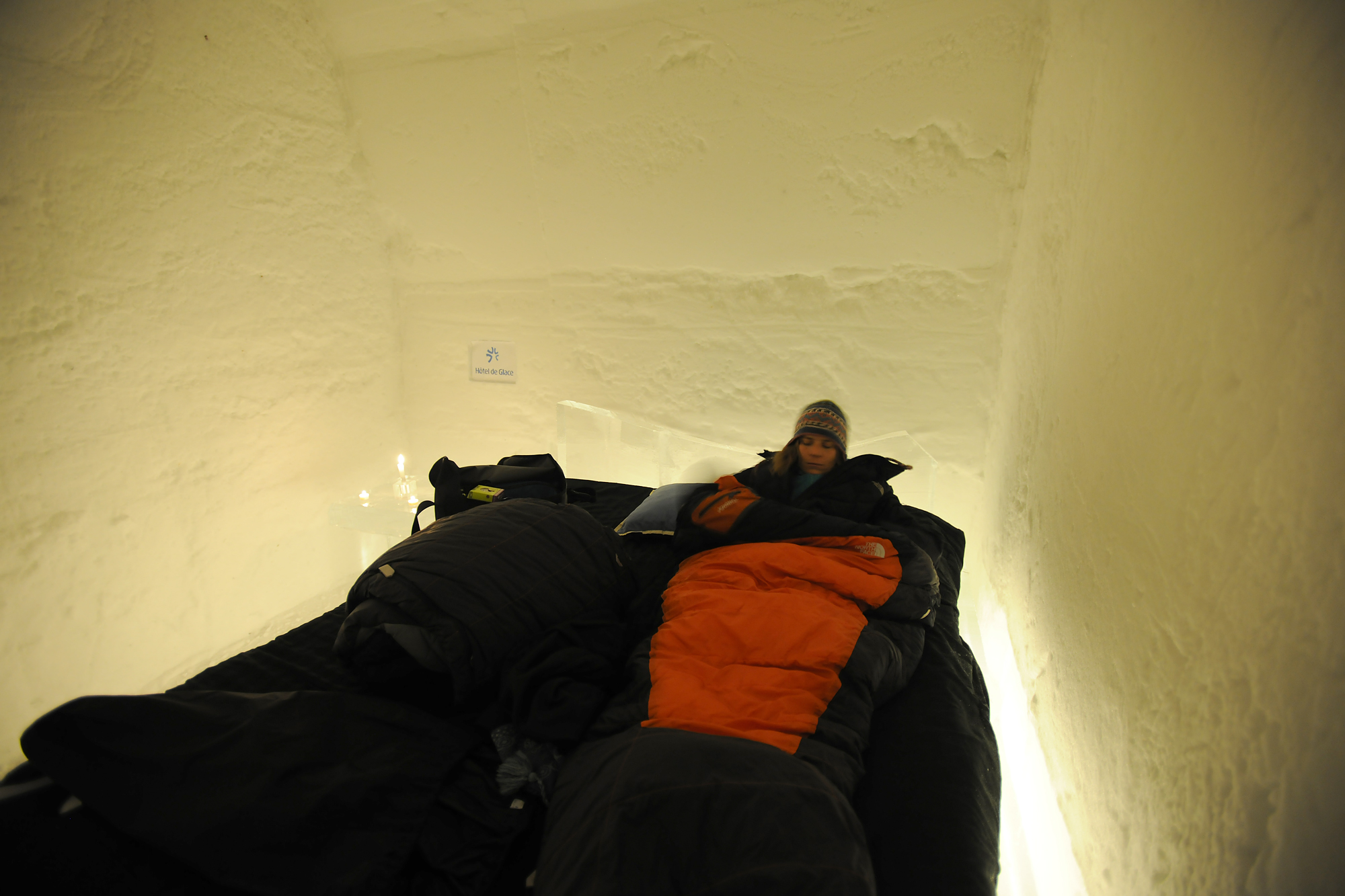 Ready for bed, Ice Hotel, Quebec City