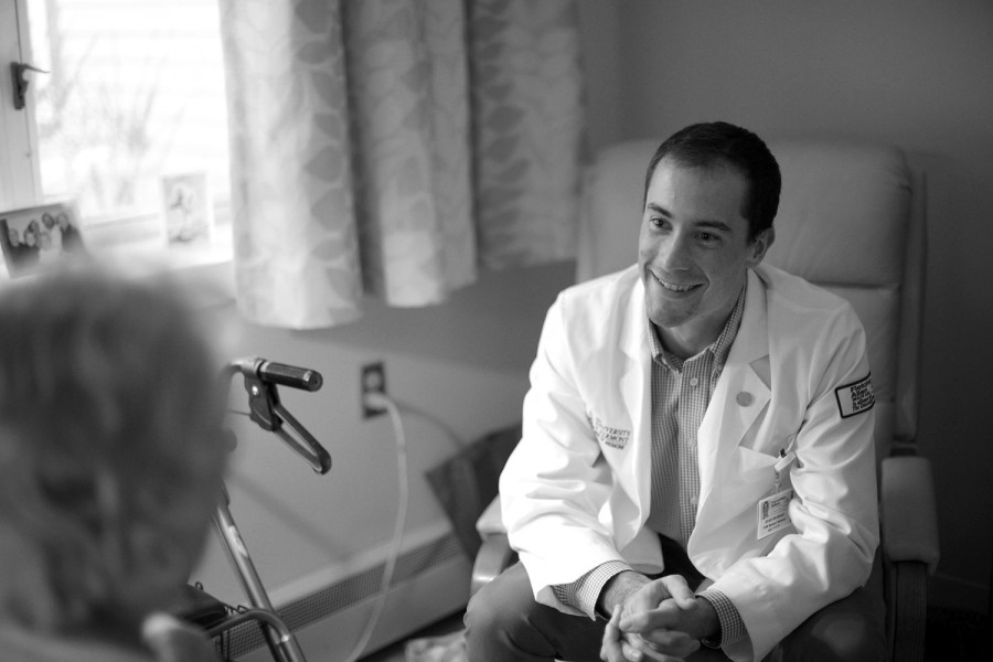 Black and White Health Care Photographer