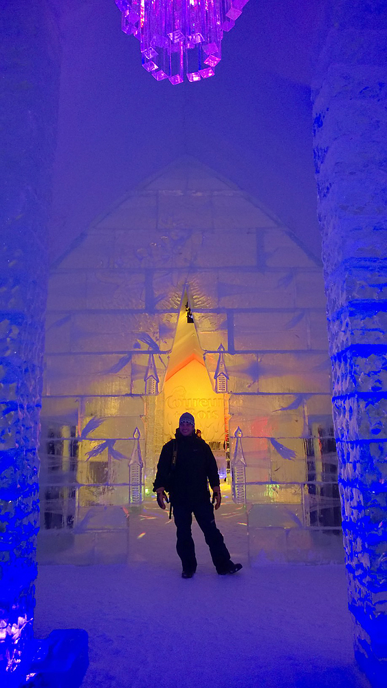 Ice Hotel, Quebec City. Photo by Miriam